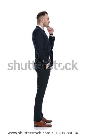 ernstig · jonge · man · smoking · denken · foto - stockfoto © feedough