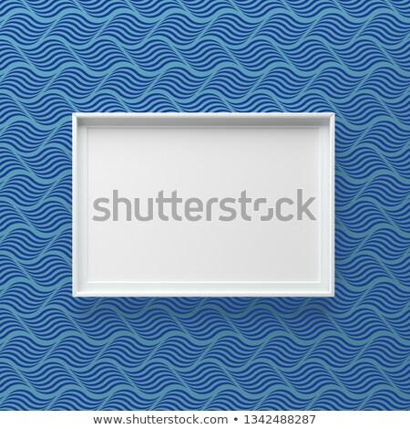 Elegancki ramki obrazu stałego ściany wzór fali Zdjęcia stock © adamr