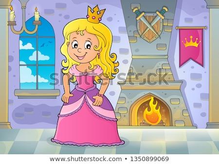 Princesse sujet image femme heureux fenêtre Photo stock © clairev