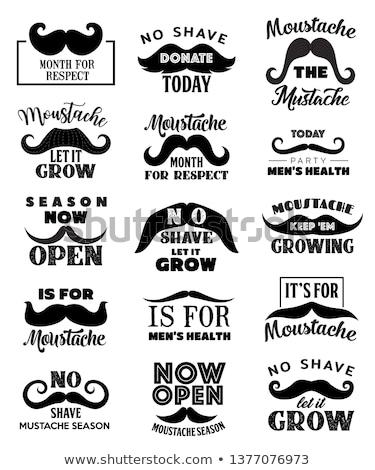 черный борода набор иллюстрация модный человека Сток-фото © Blue_daemon