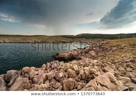 Chuva nuvens mar Croácia oceano Foto stock © rafalstachura