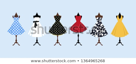 mannequins with clothes dresses and shorts vector stock photo © robuart