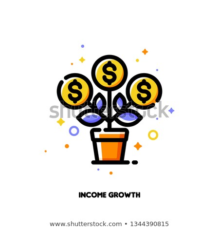 Icon of flourishing money tree with dollar signs for financial growth Stock photo © ussr