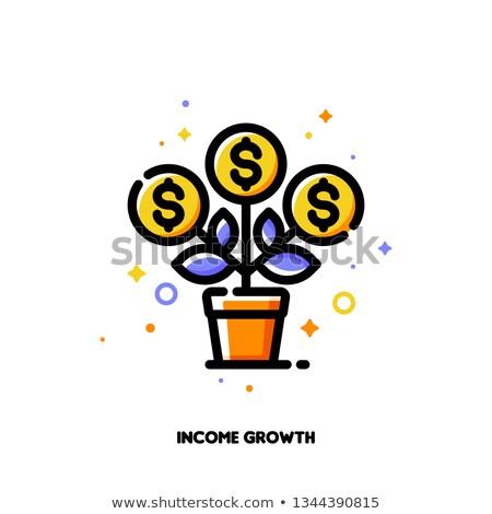 ilustración · árbol · creciente · dinero · forma - foto stock © ussr
