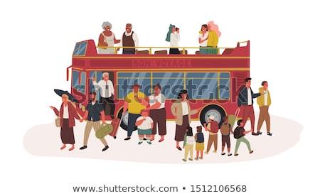 Senior Couple Tour Bus Illustration Stock photo © lenm