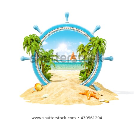 An isolated summer island Stock photo © colematt
