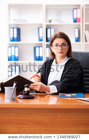 Középkorú női orvos dolgozik bíróság törvény Stock fotó © Elnur