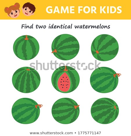 find two identical sweets coloring book Stock photo © izakowski