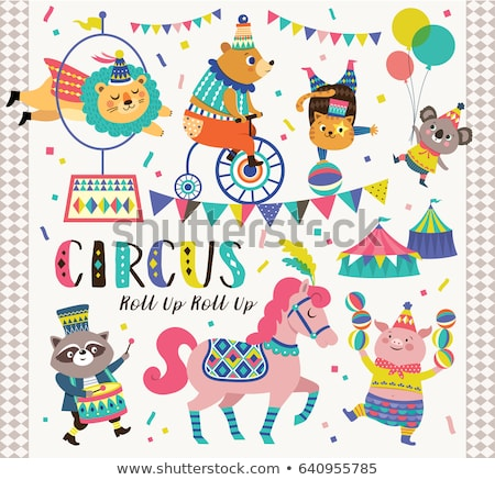 Set of kid and circus Stock photo © bluering