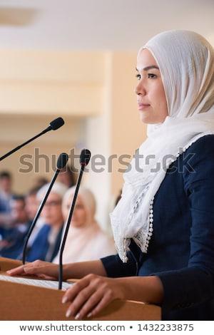 Young pretty confident muslim female delegate in hijab Stock photo © pressmaster