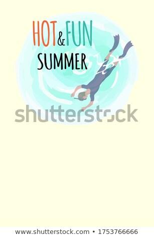 горячей весело лет Diver маске дайвинг Сток-фото © robuart