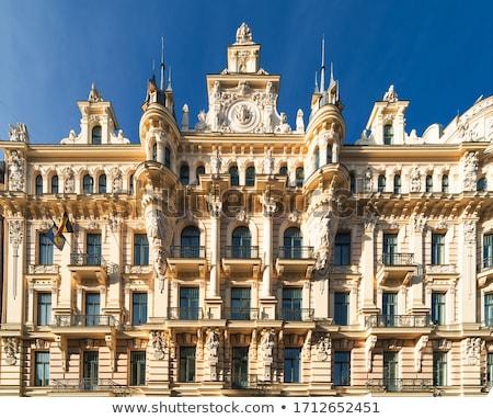 gebouw · art · nouveau · stijl · Riga · fragment - stockfoto © borisb17