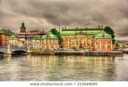 Casa nobleza Estocolmo Suecia registros grupo Foto stock © borisb17
