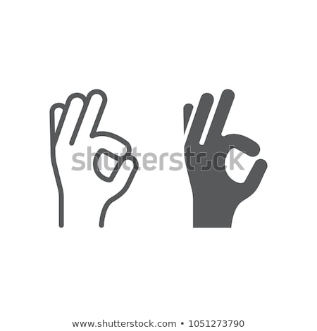 hand gesture okay ok agree approval sign vector stock photo © pikepicture