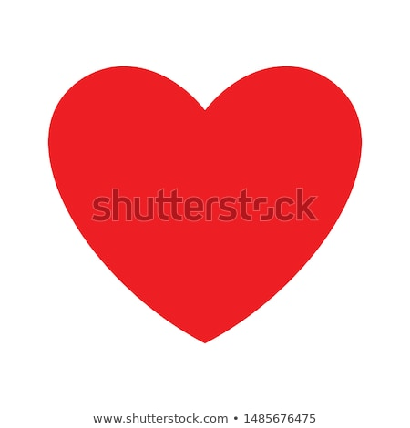Red heart icon with heartbeat cardiogram pulse line Stock photo © LoopAll