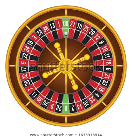 Kazanmak jackpot bayan rulet kumarhane vektör Stok fotoğraf © robuart