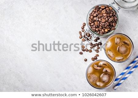 zomer · drinken · koffie · lavendel · glas - stockfoto © Illia