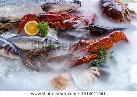 Stock fotó: Füstölt · hal · kő · oldalnézet · olaj · vacsora