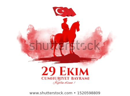 共和国 · 日 · トルコ · トルコ語 · 祭り · 翻訳 - ストックフォト © sgursozlu