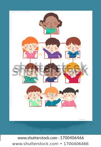 Kids Organizational Structure Illustration Stock photo © lenm