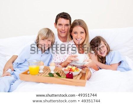 szczęśliwy · dzień · płatki · śniadaniowe · słowa · na · zewnątrz · list - zdjęcia stock © lopolo