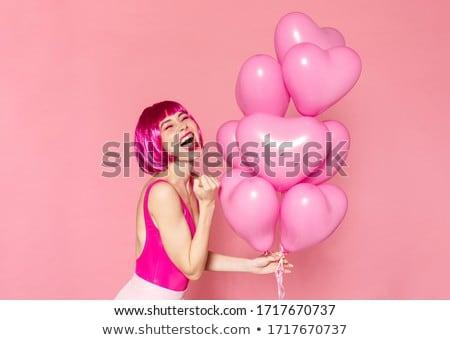 Obraz nice zachwycony kobieta zwycięzca Zdjęcia stock © deandrobot