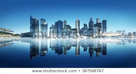 Singapore stadsgezicht nacht skyline stad Stockfoto © dmitry_rukhlenko