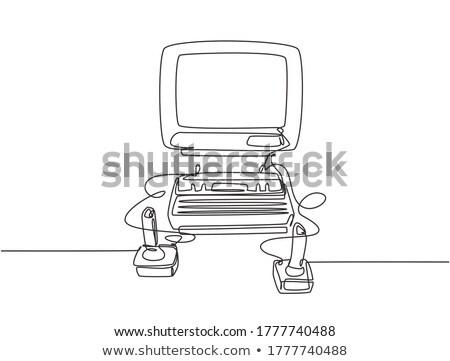 Consoler gamepad vecteur métaphore technologie vivre Photo stock © RAStudio