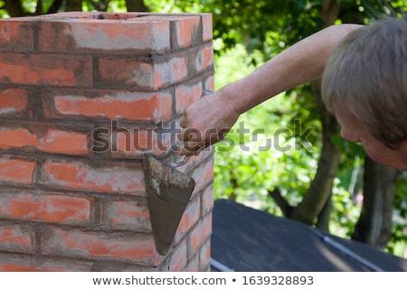Cegły komin wyblakły starych fabryki przemysłowych Zdjęcia stock © sirylok