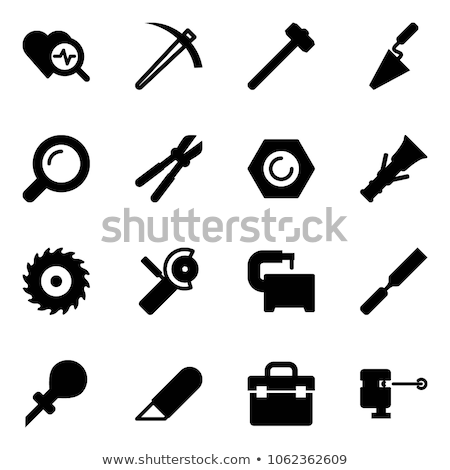 Construction workers with bolt cutters and a sledgehammer Stock photo © photography33
