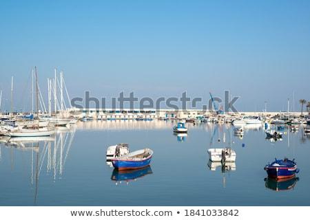 cruzeiro · barco · mar · reflexão · backlight - foto stock © frank11