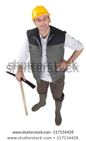 Man stood with pick ax Stock photo © photography33