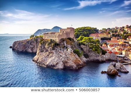 Дубровник крепость морем синий города Хорватия Сток-фото © mikdam