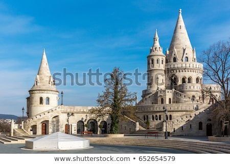 Statues in the wall of Fisherman's Bastion. Budapest, Hungary Stock photo © photocreo