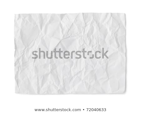the thought of old paper isolated on white Stock photo © oly5