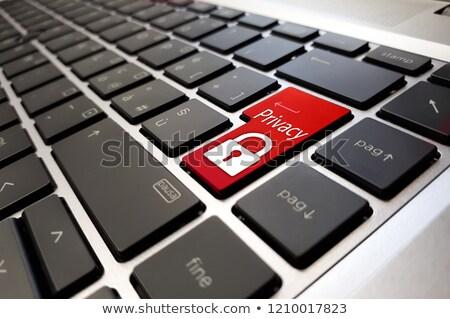 Digitális média piros billentyűzet gomb fekete Stock fotó © tashatuvango