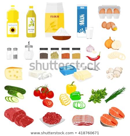 ニンニク パセリ キノコ トマト パプリカ レシピ ストックフォト © stevanovicigor