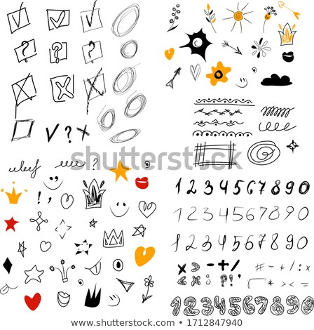 business doodles sketch set infographics elements isolated vector shapes stock photo © davidarts