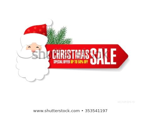 christmas offer yellow vector icon design stock photo © rizwanali3d