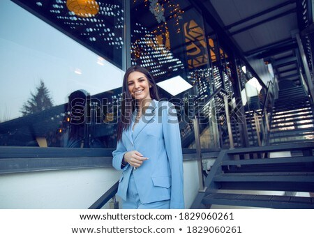 Treppe Metall glänzend Treppe Stock foto © ndjohnston