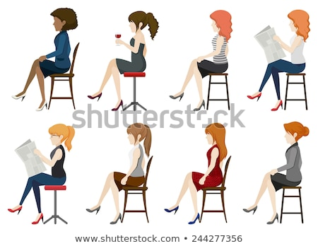 Faceless girls sitting down Stock photo © bluering
