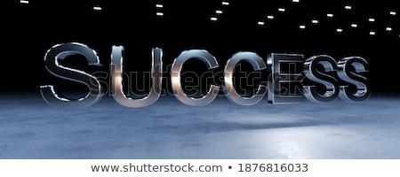 Genç işadamı başarı 3D harfler iş Stok fotoğraf © gravityimaging