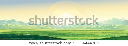 colorful spring steppe mountain landscape stock photo © tasipas