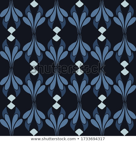 doodle flowers seamless pattern stockfoto © frescomovie