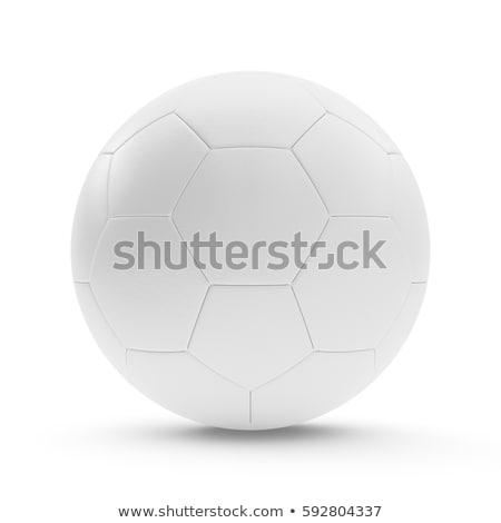 white soccer ball 3d rendering stock photo © Wetzkaz