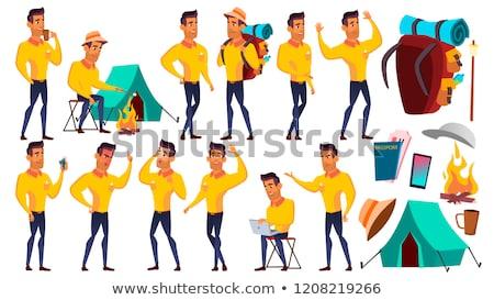 Genç erkek ayarlamak vektör Arap Müslüman Stok fotoğraf © pikepicture