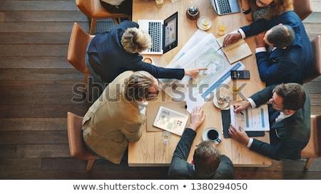 Arquiteto reunião dois discutir novo projeto Foto stock © yongtick