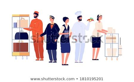 Pincérnő pincér emberek emberek dolgoznak étterem kávézó Stock fotó © robuart
