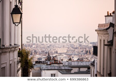 View from Monmartre street to Paris Stock photo © vapi