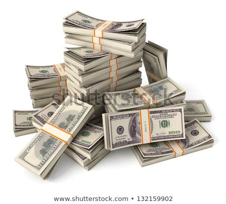 pénz · pénz · boglya · illusztráció · dollár · fehér - stock fotó © olegtoka